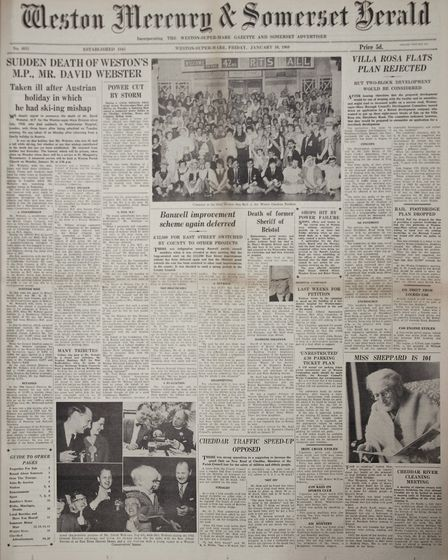 Front Page 10th January 1969 Edition. Picture: WESTON MERCURY
