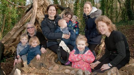 Yeo Vale Forest School Forest Tots group at Cadbury Hill. Picture: MARK ATHERTON
