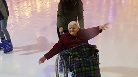 Residents and staff enjoyed ice skating at the Tropicana. Picture: Marie McMillan