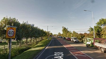 The A38 southbound is closed due to a fire. Picture: Google Maps