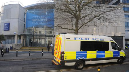 Police are investigating an incident outside Weston College in Weston-super-Mare.