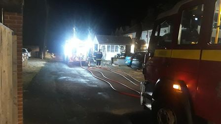 Crews tackled a fire in Mark on Sunday.Picture: Burnham-on-Sea Fire Station