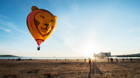 Simbaloo was launched on the beach last week. Picture: Exclusive Ballooning