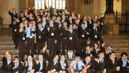 Children from St Francis Primary School visiting the Houses of Parliament.