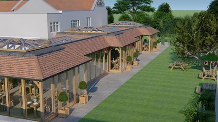 Plans for the outside of the conservatory.Picture: David Salisbury Joinery