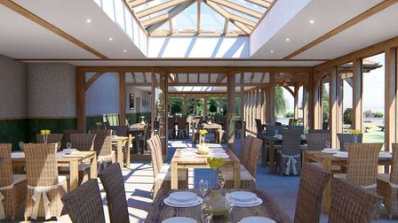 The new design layout for the conservatory.Picture: David Salisbury Joinery