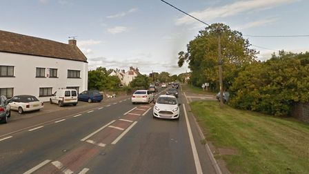 The collision happend on the A38 near Rooksbridge Picture: Google