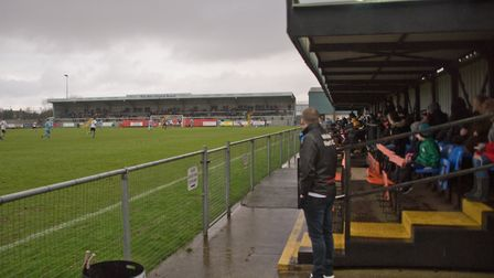 Weston Football Club stands. Picture: MARK ATHERTON