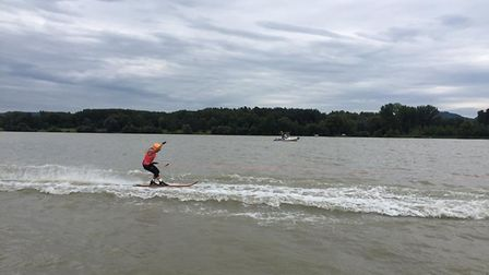 Hannah and Lauren Bird are to compete in the World Waterski Racing Championships.Picture: Speedbird