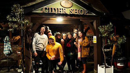 Visitors flock to attend the wassailing event at Richs Cider.Picture: Ollie Woolacott