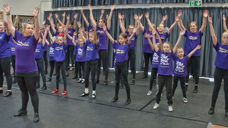 Next Step Dance Academy performance in aid of the Stroke Association. Organised by Academy principle