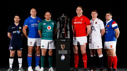 Six Nations captains at the tournament's pre launch event. Picture: PA Wire.