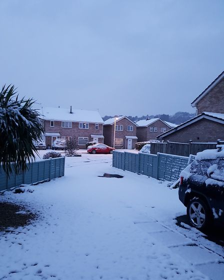 Snow in Worle. Picture: Bev Parker