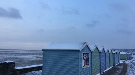 Beach huts on Weston seafront. Picture: Henry Woodsford