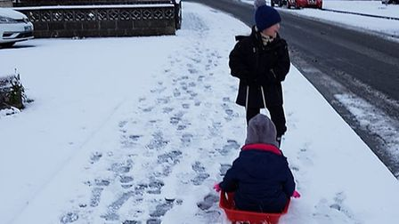Sleigh rides to school. Picture: Emma Walvin