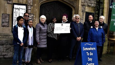 The church helped raise hundreds of pounds for Somewhere To Go.