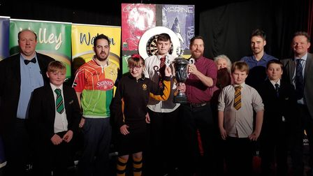 The teams which took part in the Clevedon School darts competition. Picture: Mike Thie