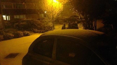 The snowfall in Claverham. Picture: Tom Wright