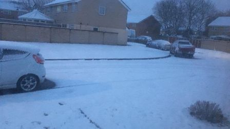 The snow in Worle. Picture: Marc Aplin