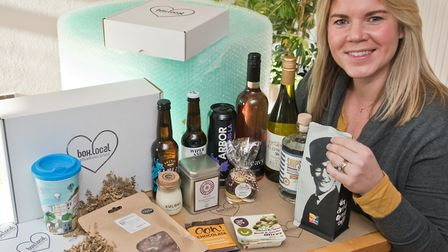 Kate Wyatt, from Nailsea, with products from her Box Local. Picture: MARK ATHERTON