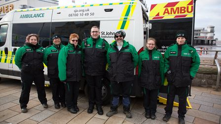 The St John Ambulance Unit helped out at the Christmas Cracker race in Weston. Picture: St John Ambu