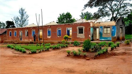 The school in Nwademuttwe before it had a new roof installed. Picture: Rotary Club of Kampala Sunris