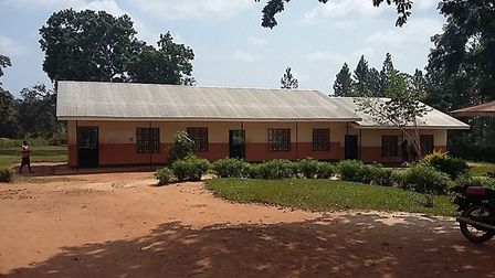 The school in Nwademuttwe with its new roof. Picture: Rotary Club of Kampala Sunrise