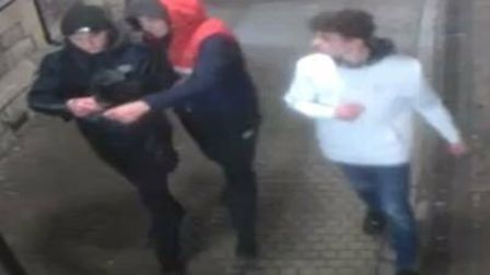 Police have launched an appeal to identify three men in connection with a robbery. Picture: Avon and