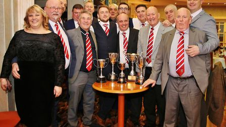 Marketeers Carnival Clubs trophies, including Weston Town Councils Technical Achievement cup.Picture