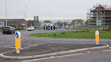 Winterstoke Road over the bridge and near the new roundabout. Picture: MARK ATHERTON