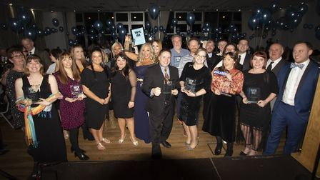 The winners celebrating at the Weston Business Awards ceremony.Picture: Andrew Thompson