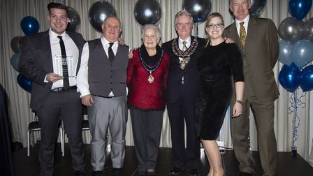 Employees of AMS Electrical with MP John Penrose and the Mayor and Mayoress of Weston-super-Mare.Pic