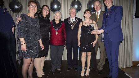Walker and Ling won the Family Business Of The Year award jointly with AMS Electrical.Picture: Andre