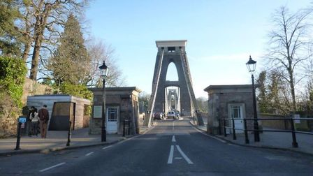 What the bridge will look like when approaching it from Leigh Woods. Picture: Purcell