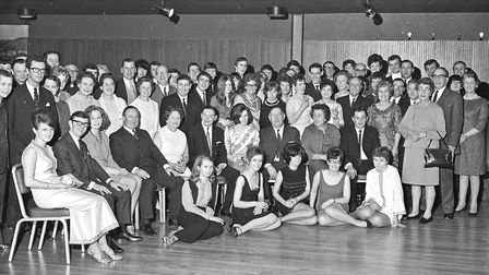 Pictured with staff and guests at the dinner and dance held by Victoria Garage, Wston, are Mr. C.E.H