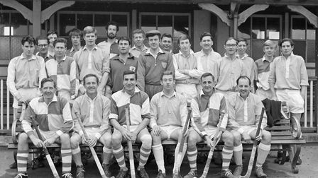 The Weston and Brean Hockey First teams before their local derby at Clarence Park. Brean won an exci