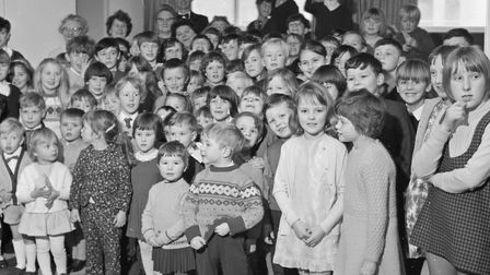 Some of the children who attended a party at the British Legion's Weston branch headquarters. Pi