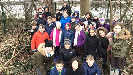 Children enjoying the forest school sessions at St Francis Primary School.