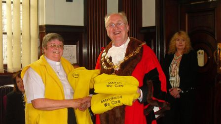 Gill Putnam (left0 representing Chaplaincy about Town