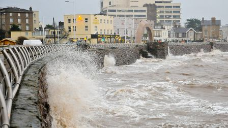 Winds of up to 70mph are expected in coastal areas.