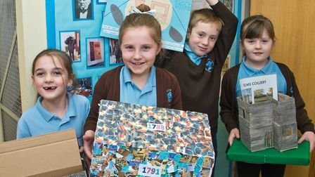 St Francis Primary School pupils have been making models during their studies on the history of Nail