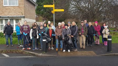 More than 30 volunteers took part in the litter pick. Picture: Marc Aplin