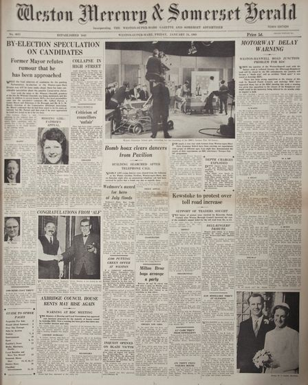 Front Page 24th January 1969 Edition. Picture: MARK ATHERTON