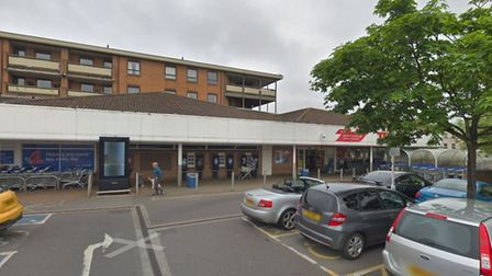 The alleged incident happened outside Tesco in Weston-super-Mare. Picture: Google