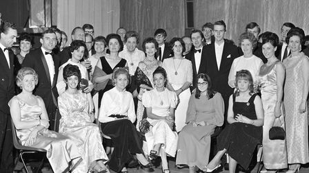Members and friends of Weston-super-Mare Dramatic Society pictured before their annual dinner, in th