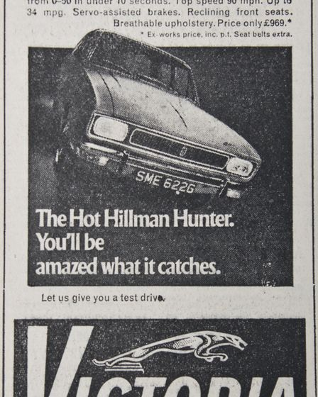 Ads 14th February 1969 Edition. Picture: WESTON MERCURY