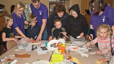 Messy church at Worle Baptist Church. Picture: MARK ATHERTON