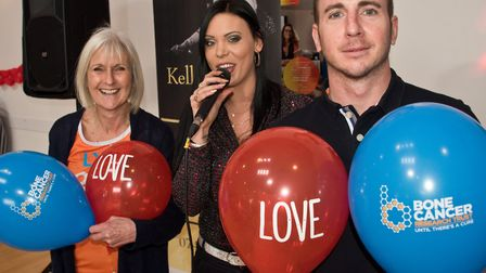 Lyn Gilbert and Andy Baker who organised the event with singer Kelly Griggs. Lyn and Andy are taking