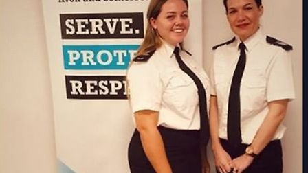 Megan Brunt and Becky Tipper have been nominated for awards.Picture: Avon and Somerset Constabulary