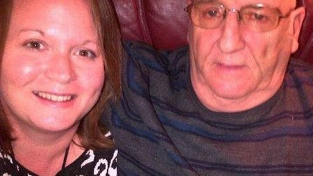 Clair Satchwell pictured with father-in-law John Satchwell.
